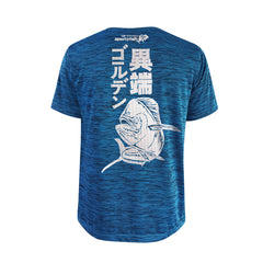 Bold Series Turquoise T-shirt(SS): The Mahi(Golden Maverick)(In Japanese Words)
