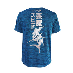 Bold Series Turquoise T-shirt(SS): The Atlantic Sailfish(Speed Demon)(In Japanese Words)