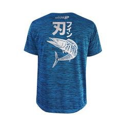 Bold Series Turquoise T-shirt(SS): The Wahoo(Bladed Fin)(In Japanese Words)