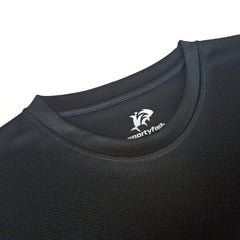 SportyFish Black Series black Long-sleeves t-shirt: Yellowfin Tuna(Japanese words) close-up view 2