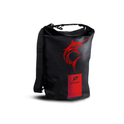 SportyFish Dry Tube Bag: Black Marlin front view