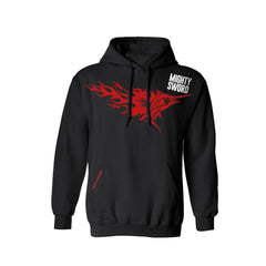 SportyFish Fury Series Black Hoodie(front view): Black Marlin