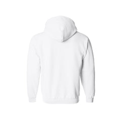 SportyFish Black Marlin white hoodie back view