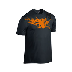 SportyFish Fury Series Black T-shirt(front view): Atlantic Sailfish