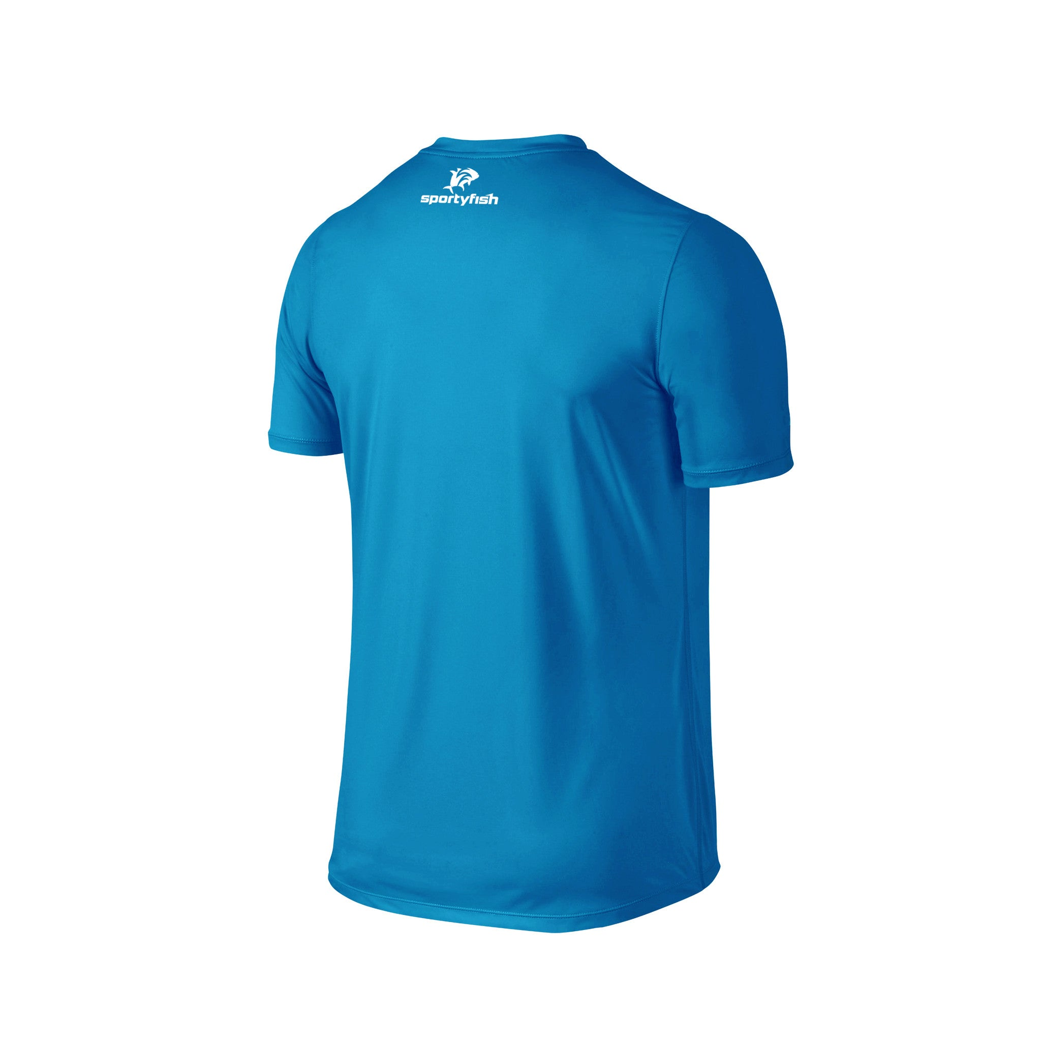 SportyFish Fury Series Turquoise T-shirt: Atlantic Sailfish back view