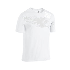 SportyFish Fury Series White T-shirt(front view): Atlantic Sailfish
