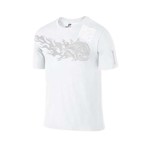SportyFish Fury Series White T-shirt: Giant Trevally front view2