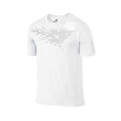 SportyFish Fury Series White T-shirt: Black Marlin front view2