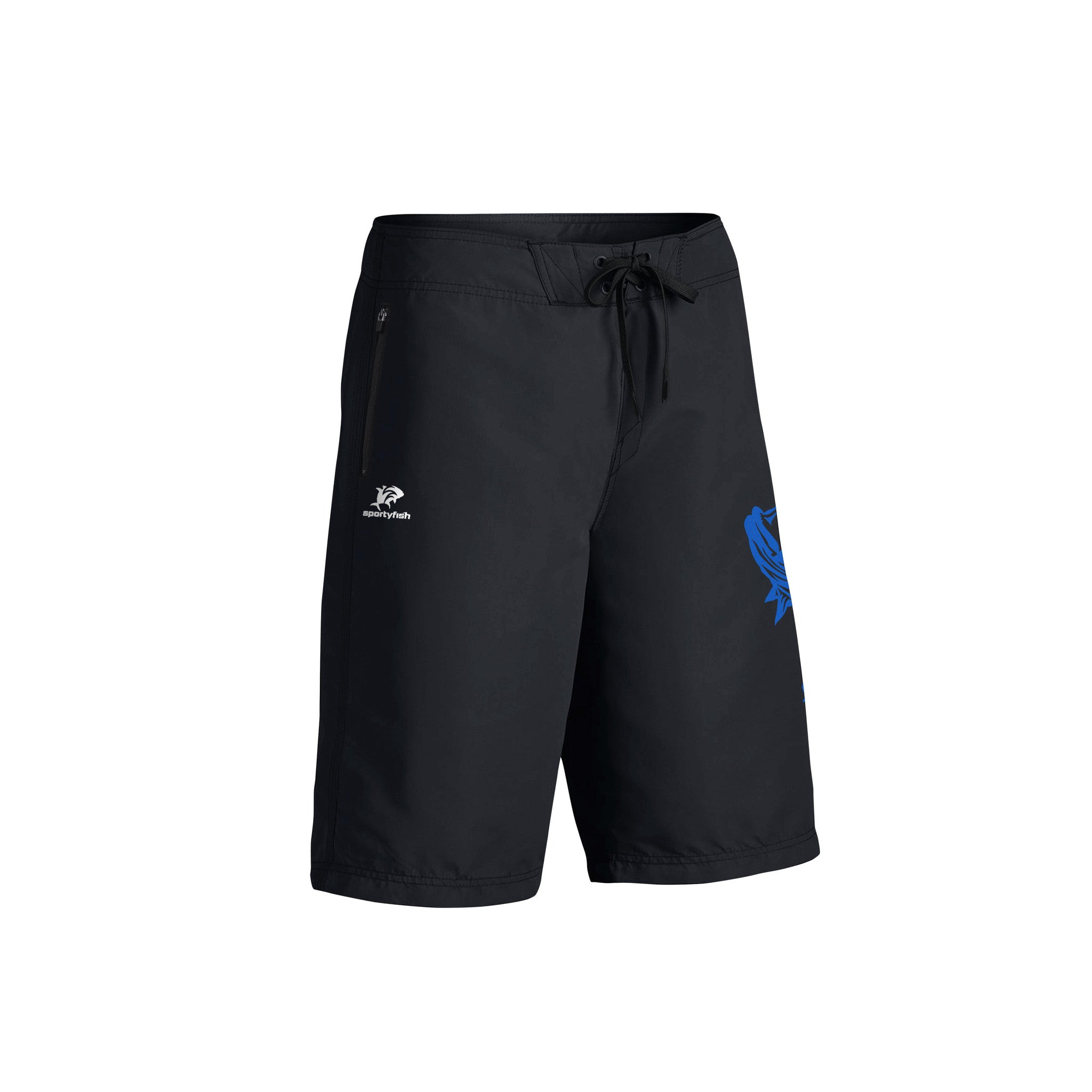 SportyFish Fury Series Board Shorts: Giant Trevally front view2