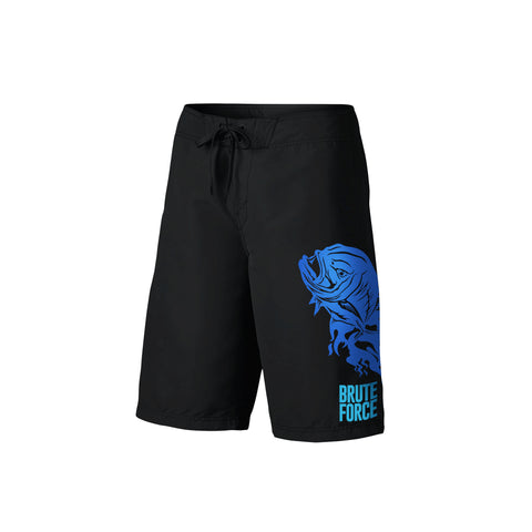 SportyFish Fury Series Board Shorts: Giant Trevally front view