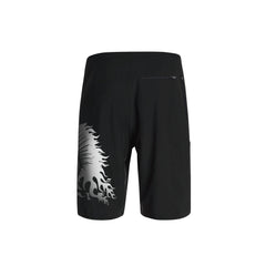 SportyFish Fury Series Board Shorts: Atlantic Sailfish back view