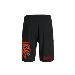 SportyFish Fury Series Board Shorts: Yellowfin Tuna back view