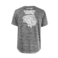 SportyFish Bold Series Grey T-shirt(back view): The Grouper(Goliath Fighter)