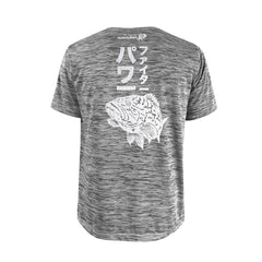 Bold Series Grey T-shirt(SS): The Grouper(Goliath Fighter)(In Japanese Words)