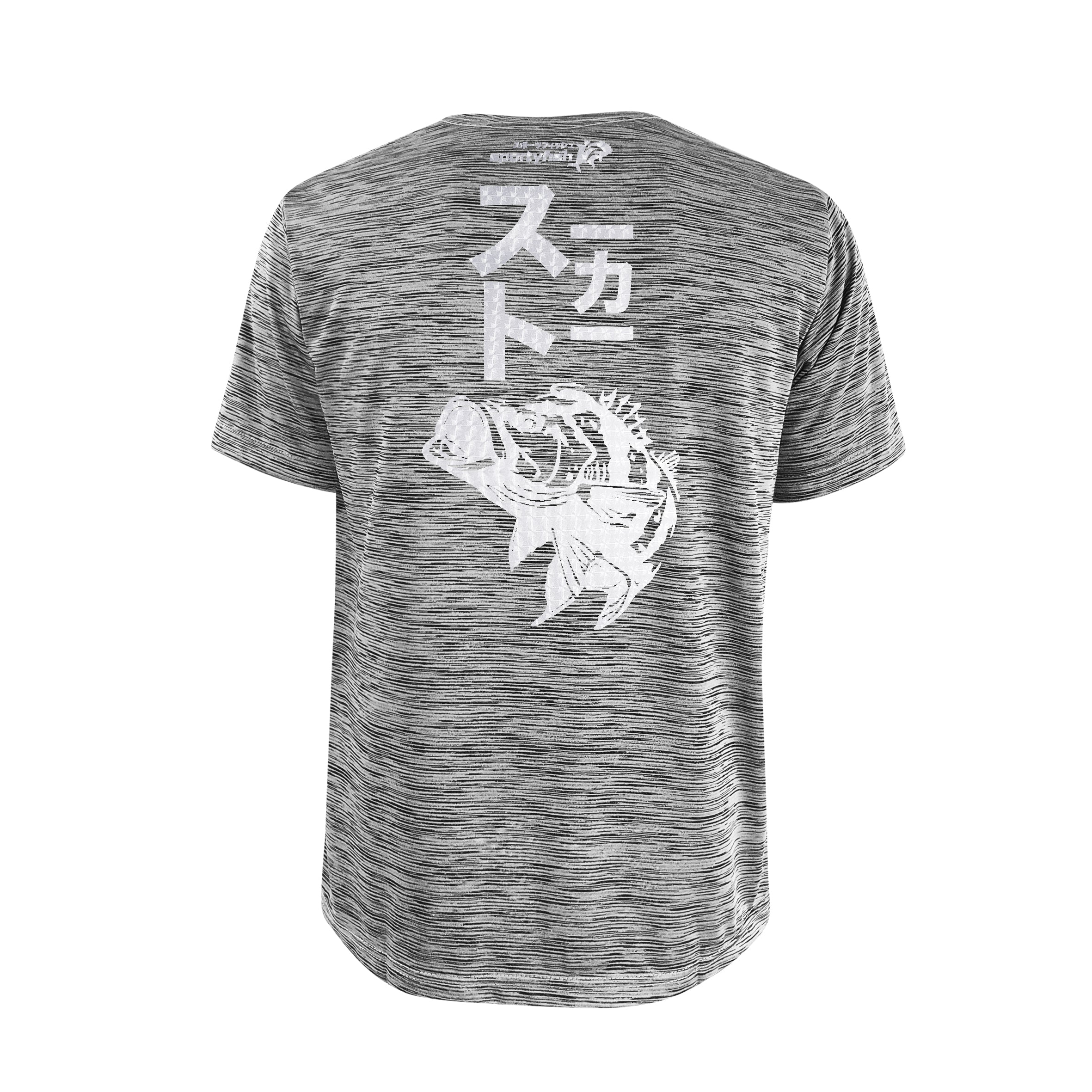 Bold Series Grey T-shirt(SS): The Peacock Bass(Stealth Stalker)(In Japanese Words)
