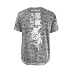 Bold Series Grey T-shirt(SS): The Atlantic Sailfish(Speed Demon)(In Japanese Words)