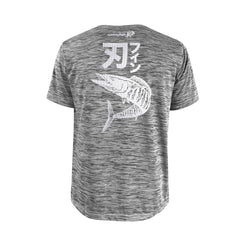 Bold Series Grey T-shirt(SS): The Wahoo(Bladed Fin)(In Japanese Words)