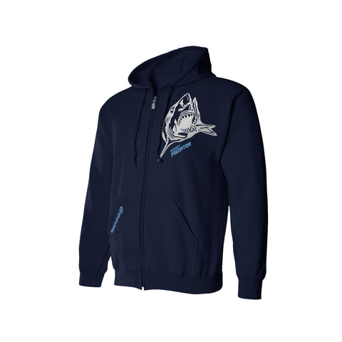 SportyFish Shark Crusader Series Hoodie - Great White Shark