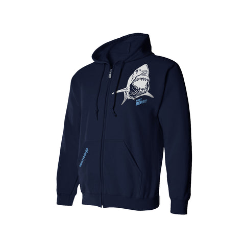 SportyFish Shark Crusader Series Hoodie - Mako Shark