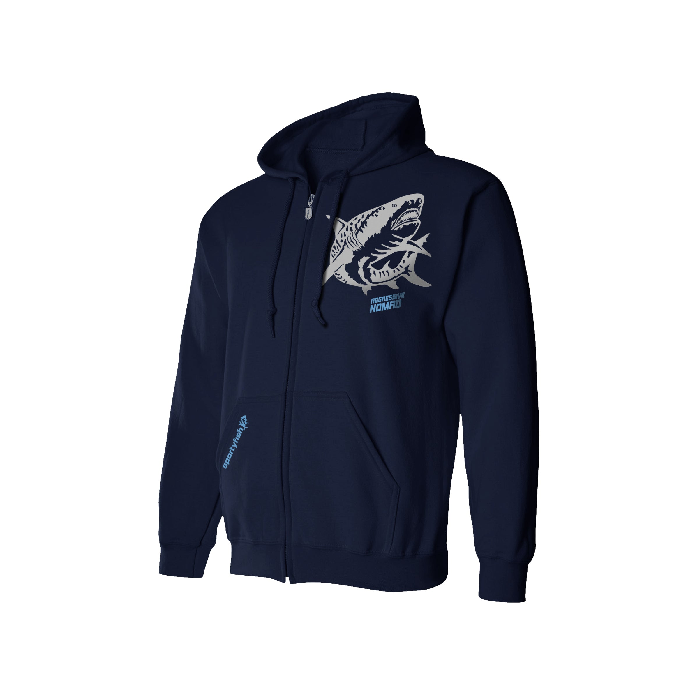 SportyFish Shark Crusader Series Hoodie - Tiger Shark