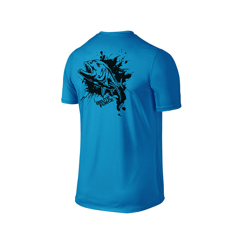 SportyFish Ink Series Turquoise T-shirt: Giant Trevally back view