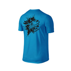 SportyFish Ink Series Turquoise T-shirt: Yellowfin Tuna back view