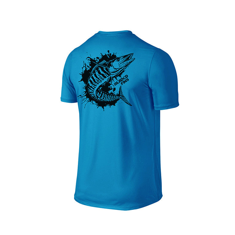 SportyFish Ink Series Turquoise T-shirt: Wahoo back view