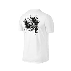 SportyFish Ink Series White T-shirt: Giant Trevally back view