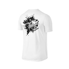 SportyFish Ink Series White T-shirt: Yellowfin Tuna back view
