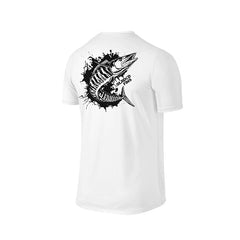 SportyFish Ink Series White T-shirt: Wahoo back view