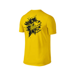 SportyFish Ink Series Yellow T-shirt: Yellowfin Tuna back view