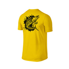 SportyFish Ink Series Yellow T-shirt: Wahoo back view