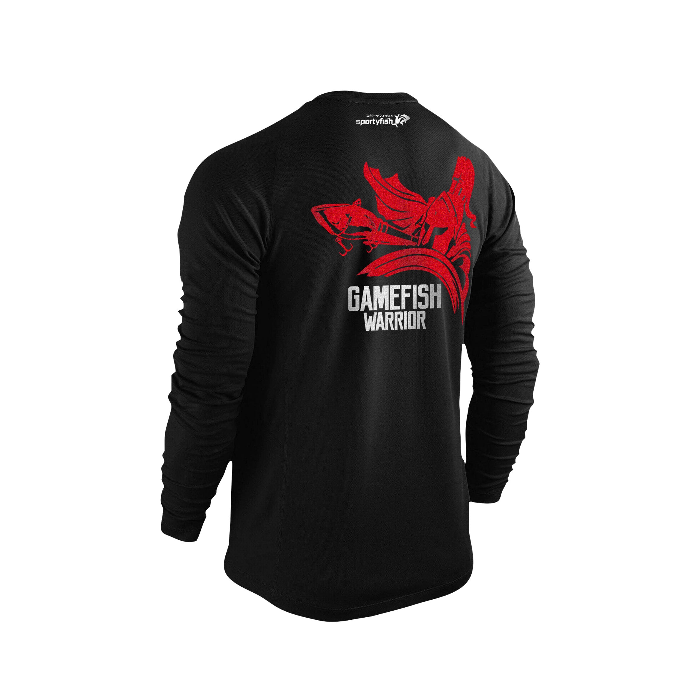 GameFish Warrior Series Long-sleeves T-shirt(back view): The Lure