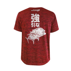 Bold Series Red T-shirt(SS): The Giant Trevally(Brute Force)(In Japanese Words)