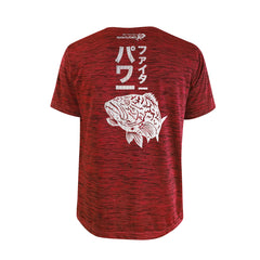 Bold Series Red T-shirt(SS): The Grouper(Goliath Fighter)(In Japanese Words)