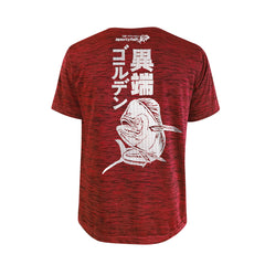Bold Series Red T-shirt(SS): The Mahi(Golden Maverick)(In Japanese Words)