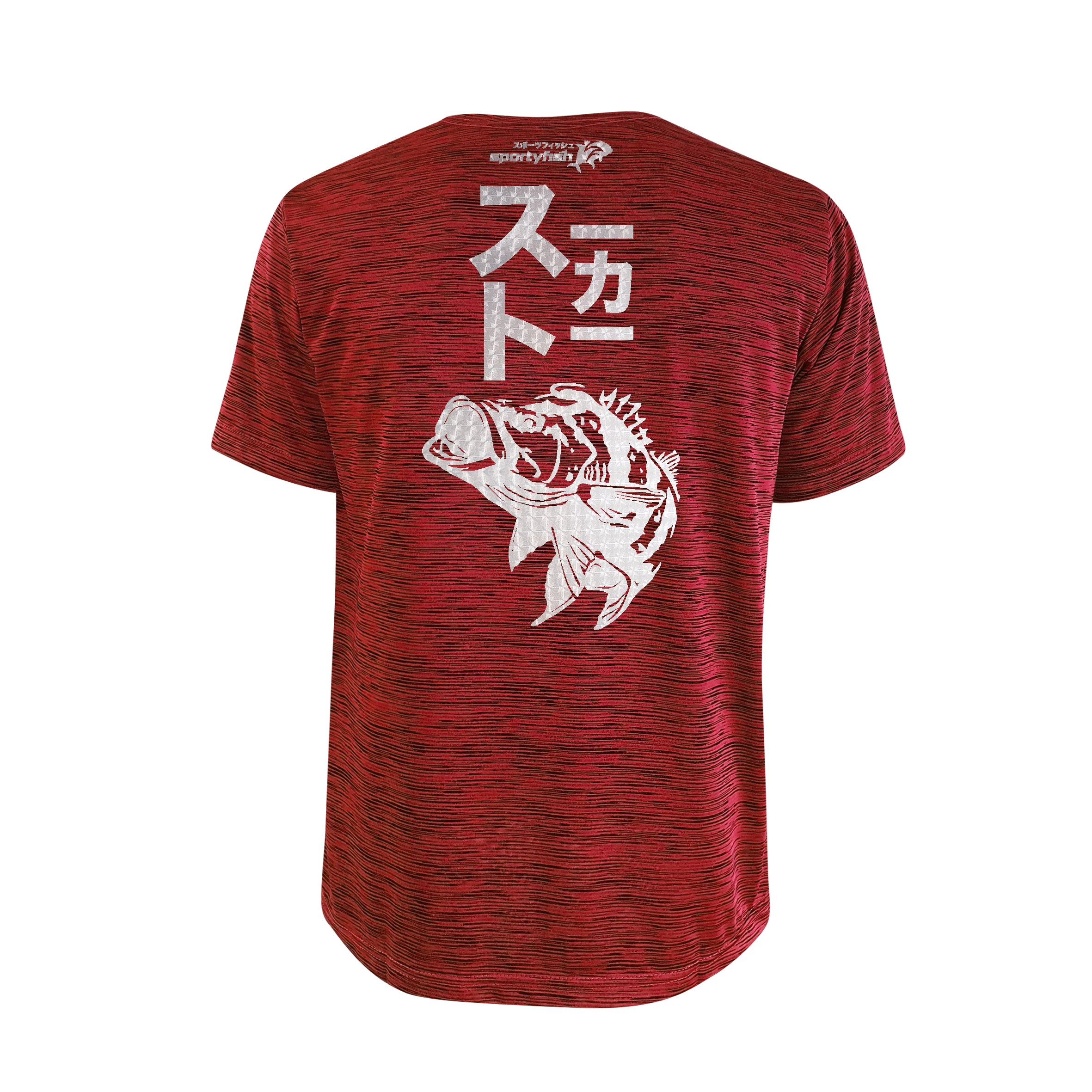 Bold Series Red T-shirt(SS): The Peacock Bass(Stealth Stalker)(In Japanese Words)