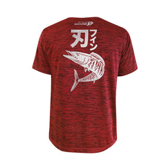 Bold Series Red T-shirt(SS): The Wahoo(Bladed Fin)(In Japanese Words)