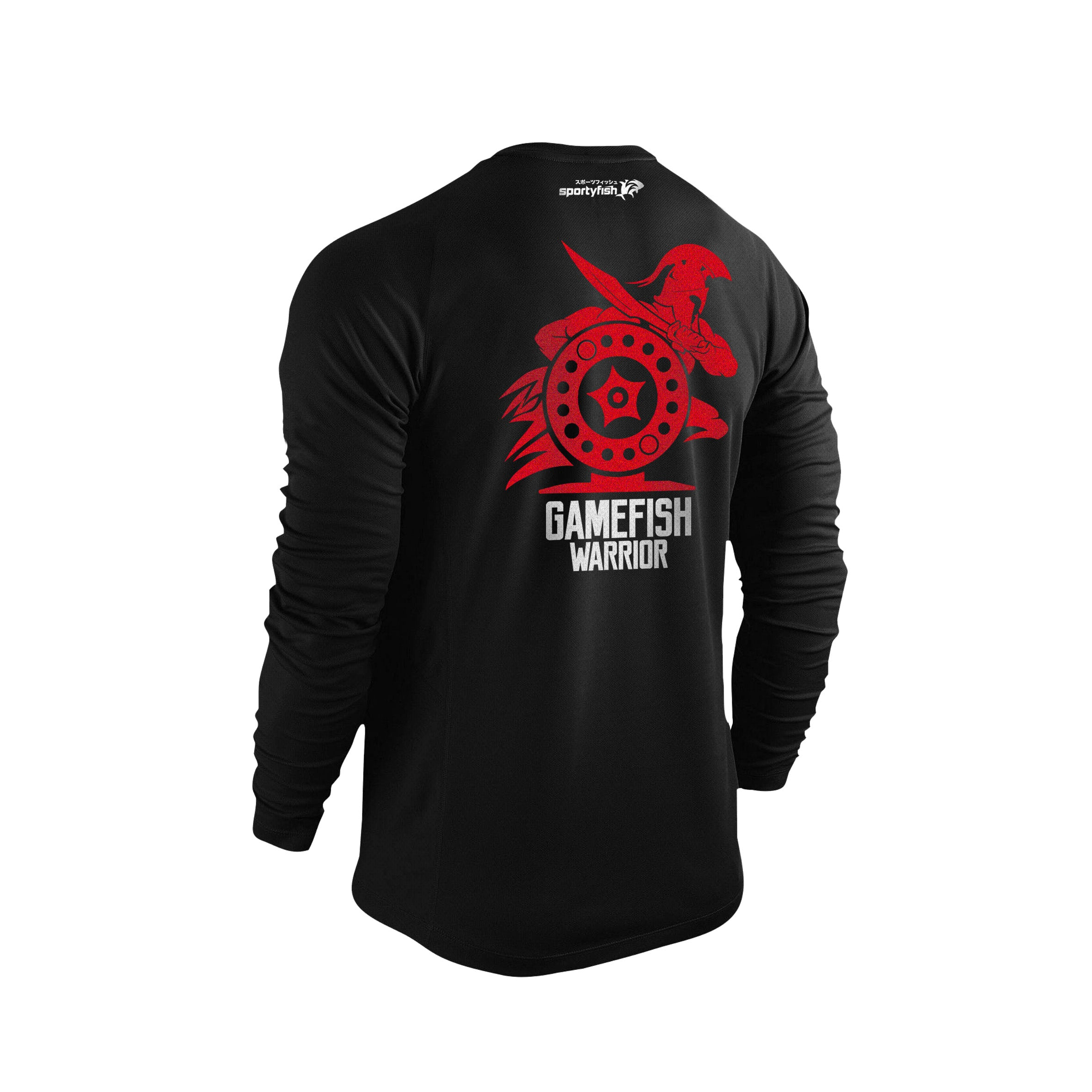 GameFish Warrior Series Long-sleeves T-shirt(back view): The Reel