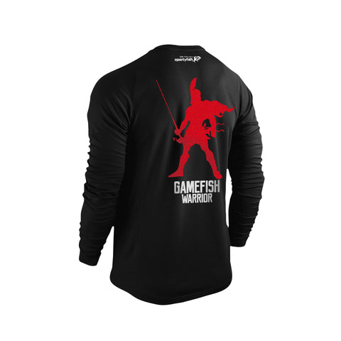 SportyFish GameFish Warrior Series Long-sleeves T-shirt(back view): The Rod