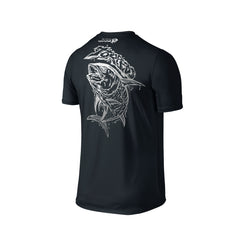 Wildstyle Graffiti Series Black T-shirt(back view)Silver: Yellowfin Tuna