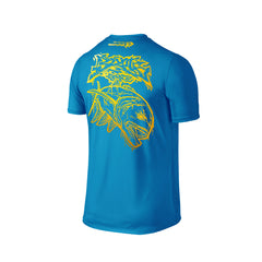 Wildstyle Graffiti Series Turquoise T-shirt(back view)Gold: Giant Trevally