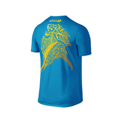 Wildstyle Graffiti Series Turquoise T-shirt(back view)Gold: Atlantic Sailfish