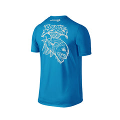 Wildstyle Graffiti Series Turquoise T-shirt(back view)Pearl White: Giant Trevally