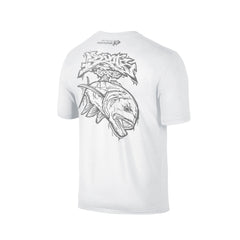 Wildstyle Graffiti Series White T-shirt(back view)Silver: Giant Trevally