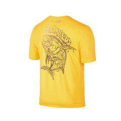 Wildstyle Graffiti Series Yellow T-shirt(back view)Gold: Yellowfin Tuna