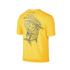 Wildstyle Graffiti Series Yellow T-shirt(back view)Silver: Yellowfin Tuna