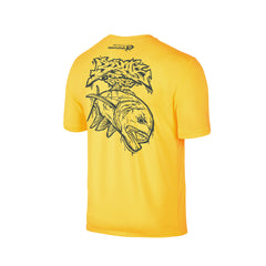 Wildstyle Graffiti Series Yellow T-shirt(back view)Tungsten: Giant Trevally
