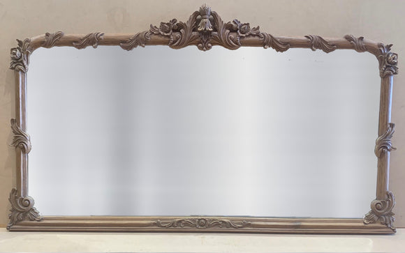 Oak Over-mantle Mirror