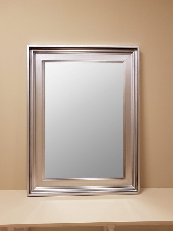 Heavy Framed Silver Mirror